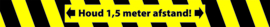 Sticker 'houd afstand' 80x8 cm strook (per set van 10)