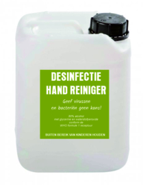 Desinfectievloeistof 5L 80% alcohol