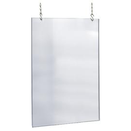 coronascherm hangend op maat plexiglas 70x100 cm inclusief boorgaten