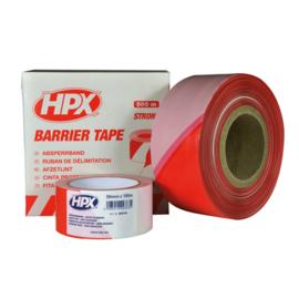 Veiligheidslint HPX rood-wit 50mm 100 meter