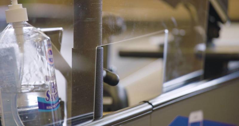 Veiligheidsscherm van plexiglas 3mm 60x100 cm