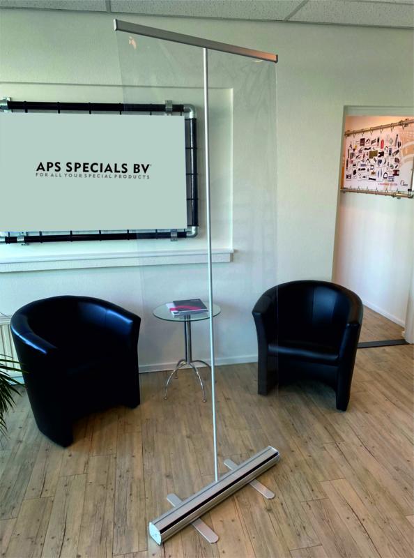 Verplaatsbaar scherm rollup 85cm x 200 cm