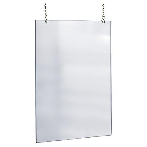 coronascherm hangend op maat plexiglas 120x100 cm inclusief boorgaten