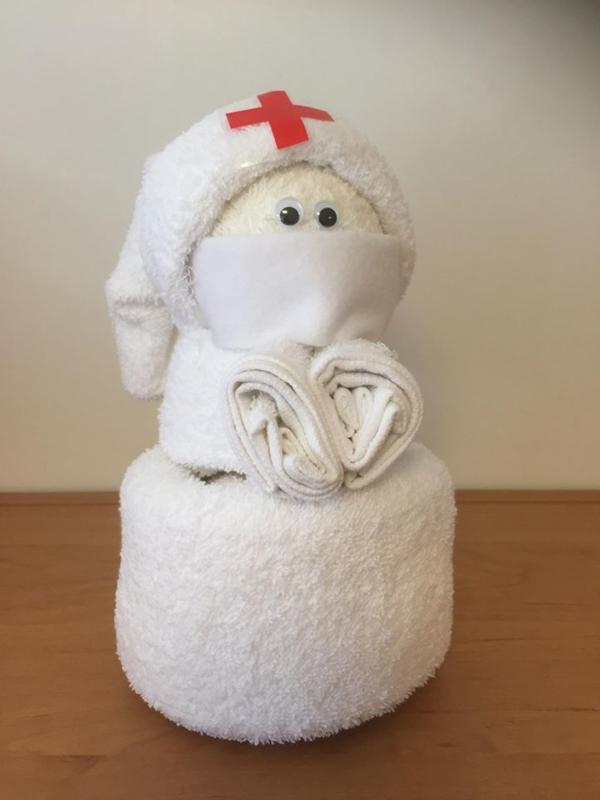 Verpleegkundige uit badtextiel
