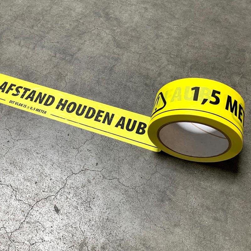 Tape afstand houden - 1 rol (50mm breed, 66 meter lengte)