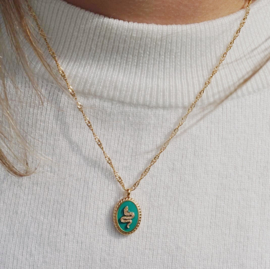 Snake alert - necklace turquoise