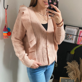 Sweet and cozy - cardigan pink