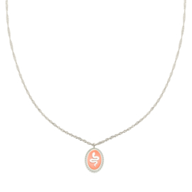 Snake alert - necklace pink
