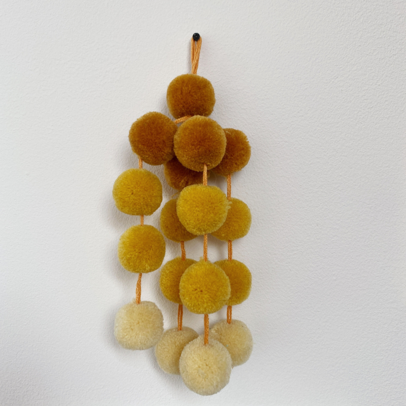 Colorful pompon - yellow