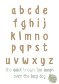MDF Letters - Lettertype 'Kid'