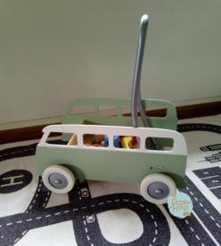"""Loopkarretje """"VW busje"""" (bijv. Vintage groen) (ST086)"""