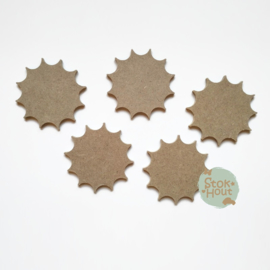 Knutselsetje: 10x Zon (M025) 10cmx6mm