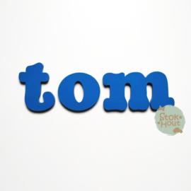 Gekleurde Letters - Lettertype 'Stokhout'