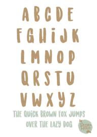 MDF Letters - Lettertype 'Stoer'