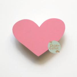 Muurknopje Hart (bijvoorbeeld seventies roze)