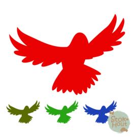 Muurfiguur: Papegaai vliegend (M022)