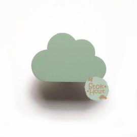 Muurknopje Wolk plat (bijvoorbeeld vintage groen)