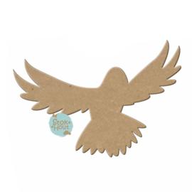 MDF figuur: Vogel (vliegend) (M051)