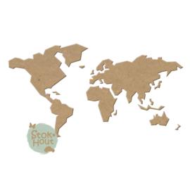 MDF Wereldkaart (ST101) 250cm