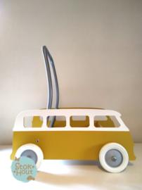"""Loopkarretje """"VW busje"""" (bijv. Retro geel) (ST086)"""