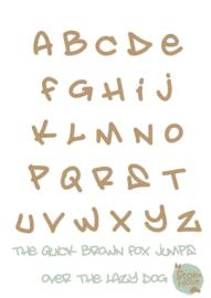 MDF Letters - Lettertype Graffiti'