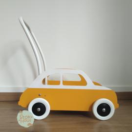 """Loopkarretje """"Fiat 500"""" (bijv. Zonnebloem geel) (ST088)"""