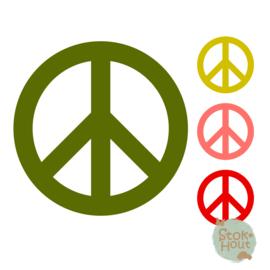 Muurfiguur: Peace teken (M012)