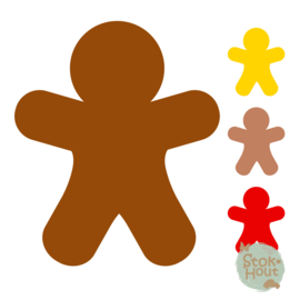 Muurfiguur: Gingerbreadman (M409)