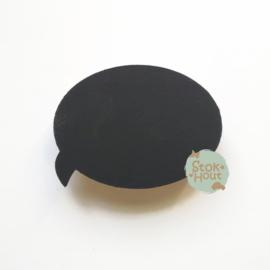 Muurknopje Gespreksballon (bijvoorbeeld krijtbord zwart)