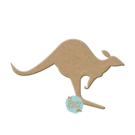 MDF figuur: Kangaroo (M077)