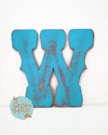 Vintaged Circus letter - 20cm/50cm - bv Aqua blauw