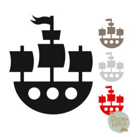 Muurfiguur: Piratenschip (M019)