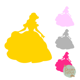 Muurfiguur: Belle (M049)