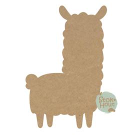 MDF figuur Alpaca (M405)