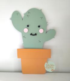 50cm groot 2,5D figuur Cactus (bijvoorbeeld Vintage groen) TM025