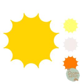 Muurfiguur: Zon (M025)