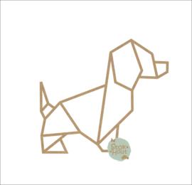 MDF Geometrisch figuur - Hondje (M508) (50 en 75cm)