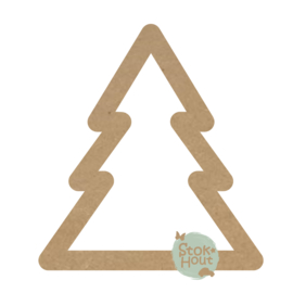MDF figuur Kerstboom outline (M487)