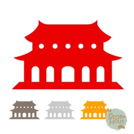 Muurfiguur: Tempel (M448)