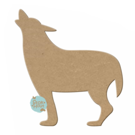 MDF figuur: Wolf (M052)