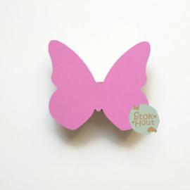 Muurknopje Vlinder (bijvoorbeeld princess roze)