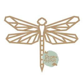 MDF Geometrische figuur - Libelle (M497)  (50cm hoog)