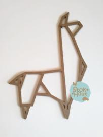 MDF Geometrische figuur - Alpaca (M371) (50 en 75cm)