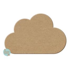 MDF figuur wolk plat 10cm x 6mm