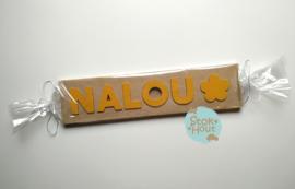Naampuzzel 0-5 letters. Bijv. 'Nalou - zonnebloem geel'