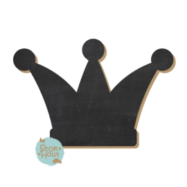 Krijtbord: Kroon (M085) 20-50-75cm