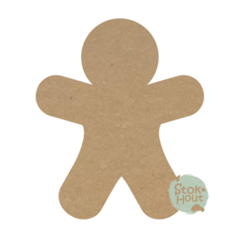 MDF figuur: Gingerbreadman (M409)
