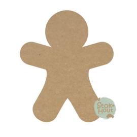 gekleurd figuur Gingerbreadman (M409)