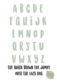 Gekleurde Letters - Lettertype 'Stoer'