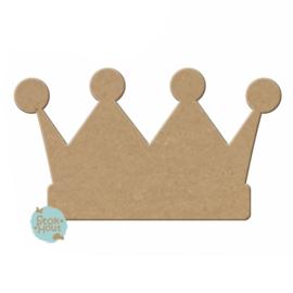 MDF figuur kroon prins 10cm x 6mm